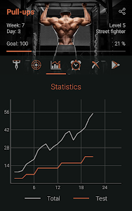 screenshot of 100 Pull-Ups Workout - Personal Trainer version 1.1.1