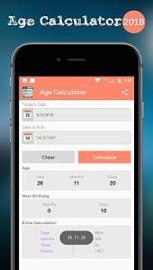 screenshot of Age Calculator version 1.2