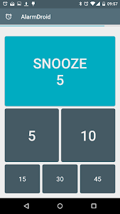 screenshot of AlarmDroid (alarm clock) version 2.2.1