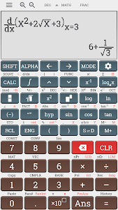 screenshot of Algebra scientific calculator fx 991ms plus 100ms version 3.5.6-rc2-build-03-10-2018-18-release