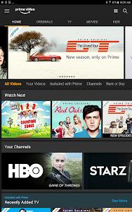 screenshot of Amazon Prime Video version 3.0.240.30741