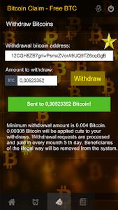screenshot of Bitcoin Claim - Free BTC version 1.0