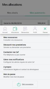screenshot of Caf - Mon Compte version 2.1.0