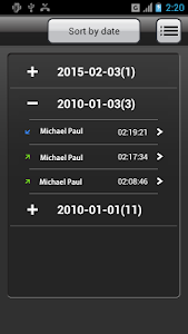 screenshot of Call Recorder version 1.3.88