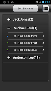 screenshot of Call Recorder version 1.4.76