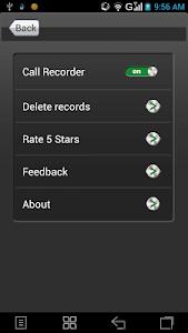 screenshot of Call Recorder version 1.2.88