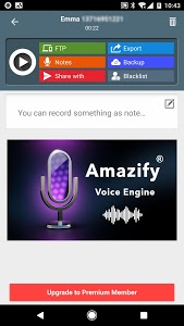 screenshot of Call Recorder ACR: Record voice clearly, Backup version 1.2.12