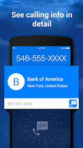 screenshot of Caller ID & Call Blocker Free version 1.2.4