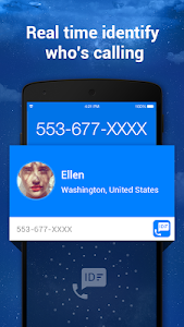 screenshot of Caller ID & Call Blocker Free version 1.2.7