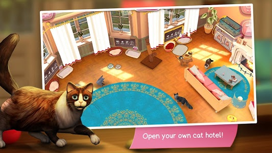 screenshot of CatHotel - Hotel for cute cats version 2.0.16613