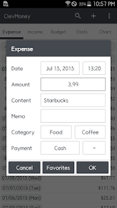 screenshot of ClevMoney - Personal Finance version 3.9.56