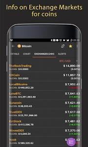 screenshot of CoinMarketApp - CryptoCurrency Portfolio, News,ICO version Varies with device