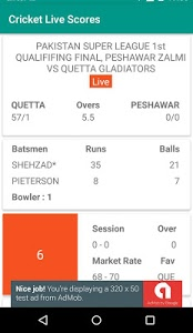 screenshot of CricLine - Live Cricket Scores version 1.3