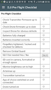 screenshot of DJI Pre Flight Checklist version 2.4