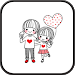 Download Dasom Couple GO sms theme 1.2 APK