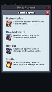screenshot of Deck Analyzer for Clash Royale version 1.1.1
