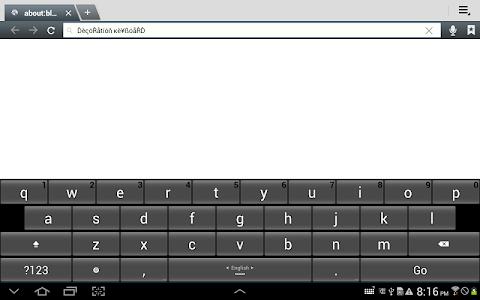screenshot of Decoration Keyboard version 3.8