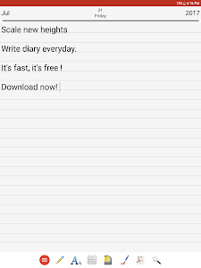 screenshot of Diary version 5.1