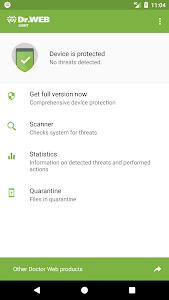 screenshot of Anti-virus Dr.Web Light version Varies with device