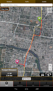 screenshot of Driving Route Finder version 1.2.8.7