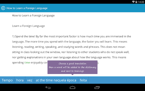 screenshot of English with Lingualeo version 2.5.1