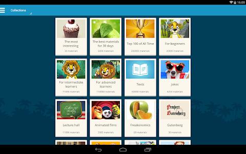 screenshot of English with LinguaLeo version 2.2.4