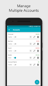 screenshot of Expense Manager version 1.0.9