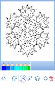 Download Flowers Mandala Coloring Book 422 APK