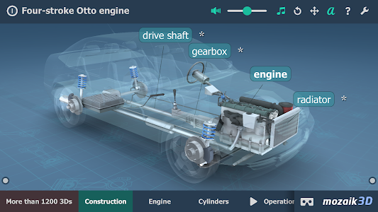 screenshot of Four-stroke Otto engine educational VR 3D version 1.91