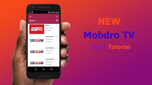 Download Free TV Mobdro 2017 tutor 1.0 APK