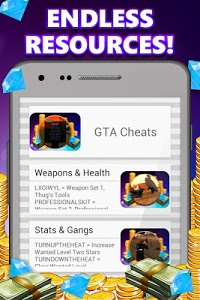 screenshot of Game Cheats for Android version 4.0