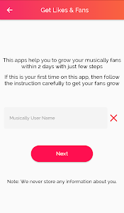 Download Get fans for Musically - like & Followers 1.0 APK