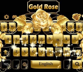 Download Gold rose Keyboard Theme 10001014 APK