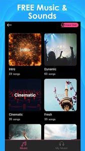 screenshot of Intro Maker for YouTube - music intro video editor version 1.8.5