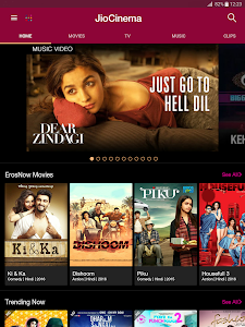 screenshot of JioCinema Movies TV Music version 1.3.4