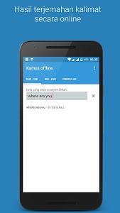 screenshot of Kamus offline lengkap version 1.2.5