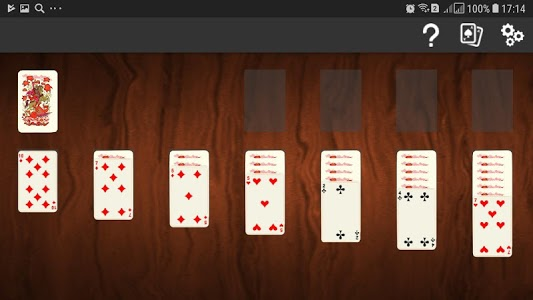 screenshot of Klondike Solitaire version 1.0.1