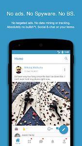 screenshot of MeWe version 5.6.3