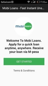 screenshot of Mobi Loans - Fast Instant Unsecured Loans In Kenya version 1.0