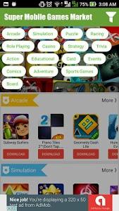screenshot of Super Mobile Games Market version 1.0.3