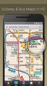 screenshot of MyTransit NYC Subway, Bus, Rail (MTA) version 3.7.3
