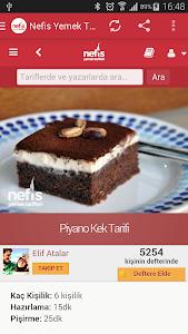 screenshot of Nefis Yemek Tarifleri version 0.2