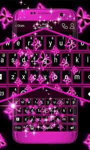 Download Neon Butterflies Keyboard 1.279.1.150 APK