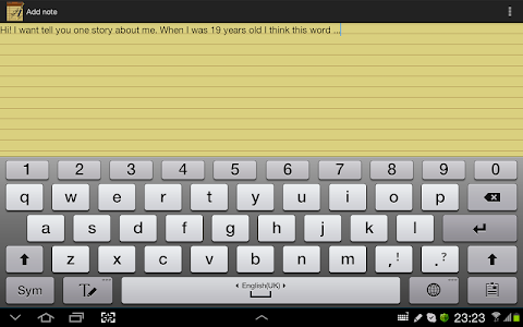 screenshot of Notepad version 2.4