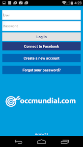 screenshot of OCCMundial version 2.9