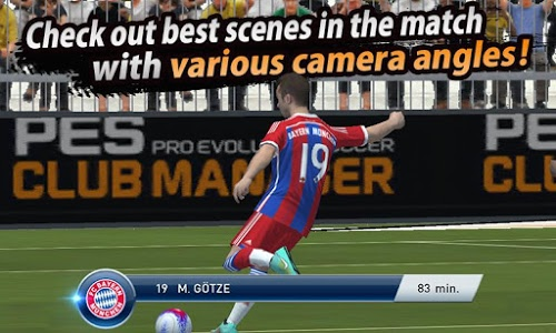 screenshot of PES CLUB MANAGER version 1.1.3
