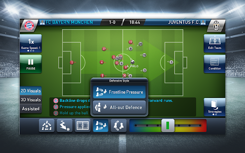 screenshot of PES CLUB MANAGER version 1.1.2