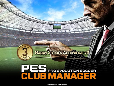 screenshot of PES CLUB MANAGER version 1.7.2