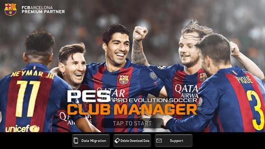 screenshot of PES CLUB MANAGER version 1.3.3