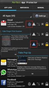 screenshot of Perfect AppLock(App Protector) version 7.3.3